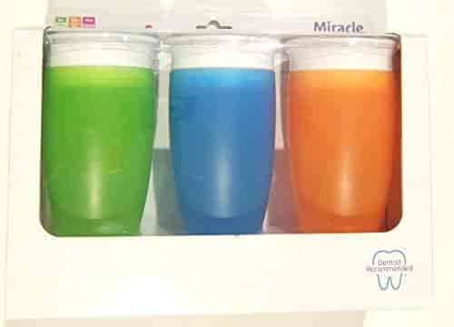 Munchkin Miracle 360 Sippy Cup 10 Ounce Green//Blue Or Pink//Orange 2 Count