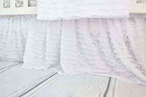 Large Pink aBaby Smocked Bassinet Skirt