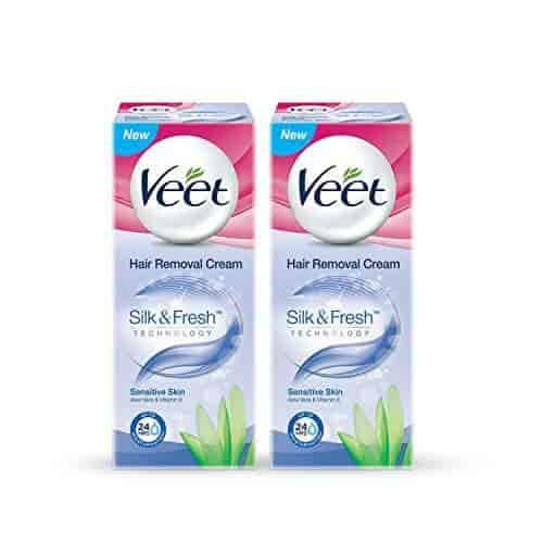 Buy Veet Hair Removal Cream Sensitive Skin 25 G Packof 2