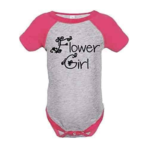 Custom Party Shop Baby Girls Flower Girl Wedding Raglan Tee