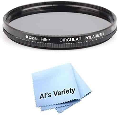 for Sony Cybershot DSC-F717 Microfiber Cleaning Cloth 58mm Circular Polarizer Multicoated Glass Filter CPL