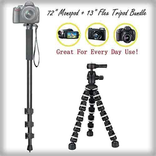 Pro Video Stabilizing Handle Grip for Olympus Stylus 500 Vertical Shoe Mount Stabilizer Handle