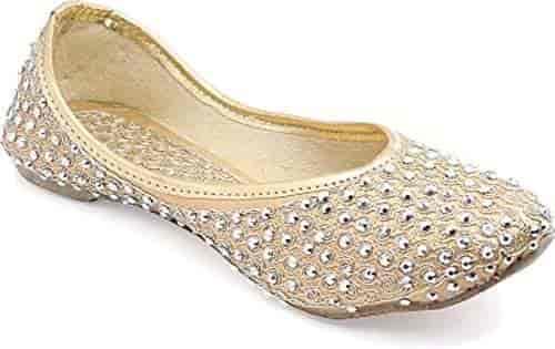 Buy Rajsahi Girls Golden Designer Juti