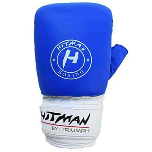Buy Hitman Gb04656 Synthetic Leather Triumph Force Print Punching Gloves Medium Blue Features Price Reviews Online In India Justdial