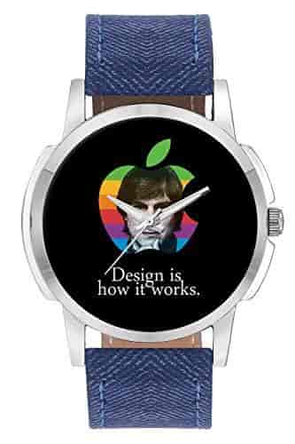 Buy Wrist Watch For Men Design Is How It Works Steve Jobs Analog Men S And Boy S Unique Quartz Leather Band Round Designer Dial Watch Features Price Reviews Online In India Justdial