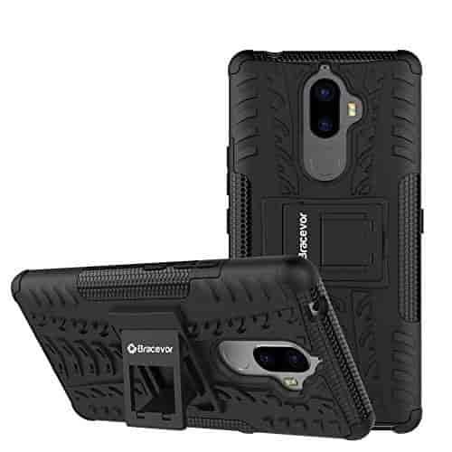 Bracevor-Shockproof-Lenovo-K8-Note-Hybrid-Kickstand-Back-Case-Defender-Cover-Black