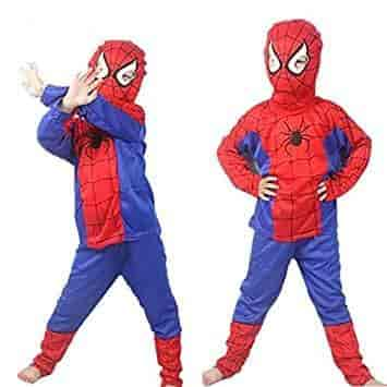 Tony Stark Halloween Costume.Tony Stark Spiderman Costume For Kids Halloween Cosplay Small 2 4 Years Violet And Red