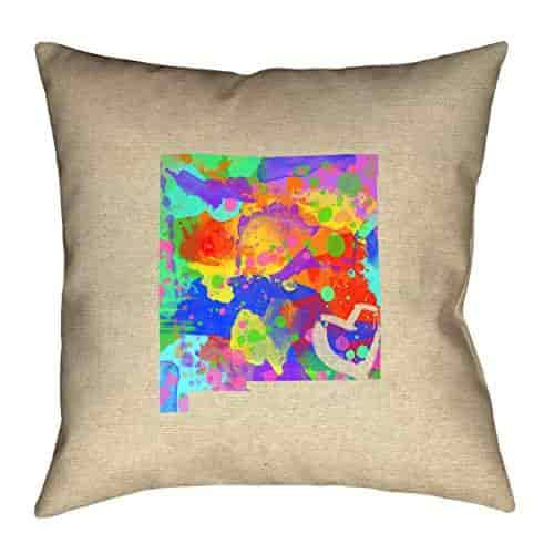ArtVerse Katelyn Smith New Mexico Love Watercolor Pillow