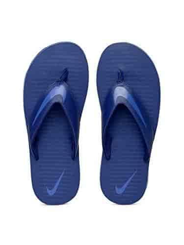 best service 85743 f0d2f Nike-Mens-Blue-Solid-Flip-Flops