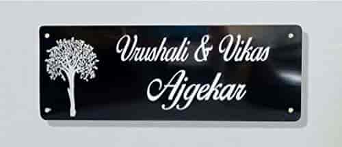 Naveed Arts Jb311 Acrylic Home Door Name Plate Acrylic Laser Cut Personalised