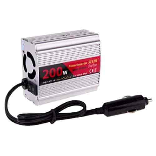 Pure Sine Wave Car Power Inverter 200W DC 12V to AC 220V w// 4 USB Ports Adapter