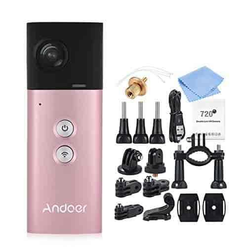 Buy Red / Pink: Andoer A360I Handheld 360 Camera Panoramic