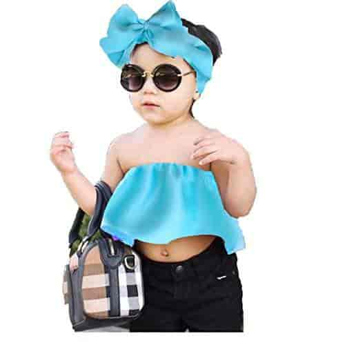 Buy Aglare Girls Dress Babygirl Tops And Tees Baby Top Girls Tops And Tees Small Girl Dresses Top With Hairband Fully Stitched Features Price Reviews Online In India Justdial