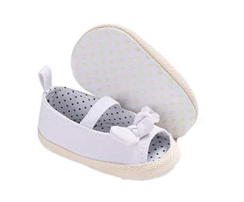 Voberry@ Baby Boys Girls Canvas Toddler Sneaker Lace Up Anti-Slip First Walker Shoes
