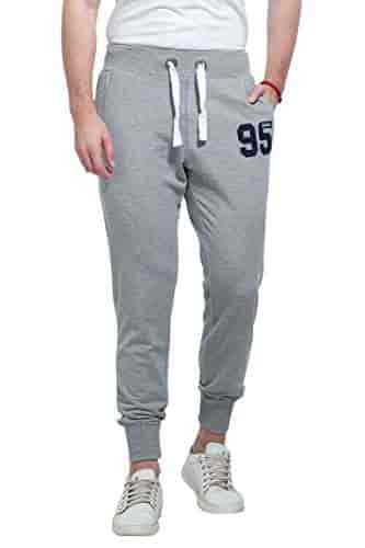 DSstyles Men Solid Color Gym Fitness Casual Pants