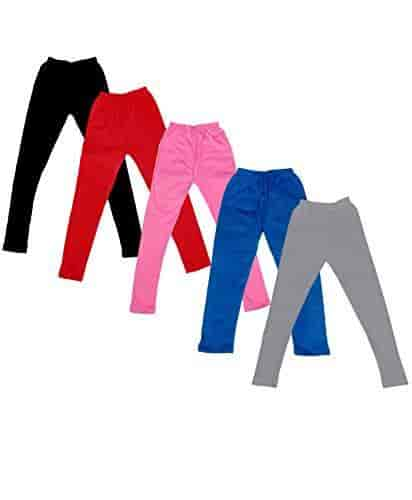 Indistar Kids Super Soft Cotton Leggings Combo 3