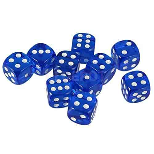 20PCS Six-sided Dice Family Multi-color Dotted Dice for Role Play Table Game