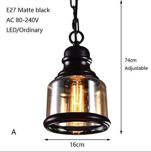Buy Modern Industrial Painted Glass Pendant Lamp Led E27