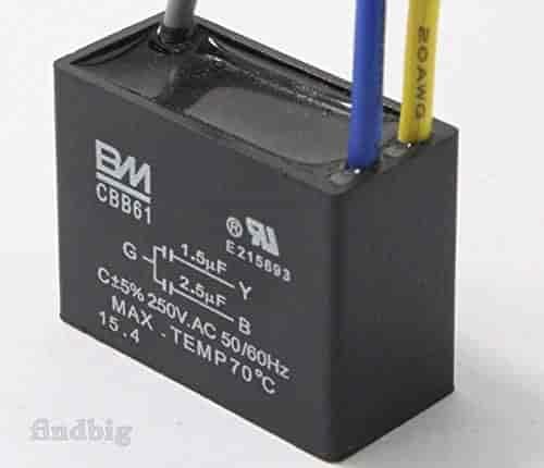 CBB61 Start Capacitor Fan Start Capacitor 1.5UF-2.5UF AC250V 50//60Hz LD