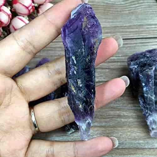 50g Natural Amethyst Skeletal Quartz Point Purple Crystal Gemstone NEW