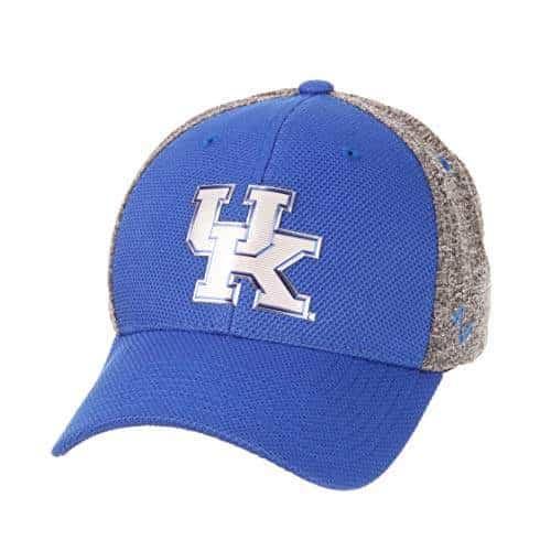 NCAA Kentucky Wildcats Mens Insignia Platinum Logo Hat Medium//Large Team Color//Heather Gray