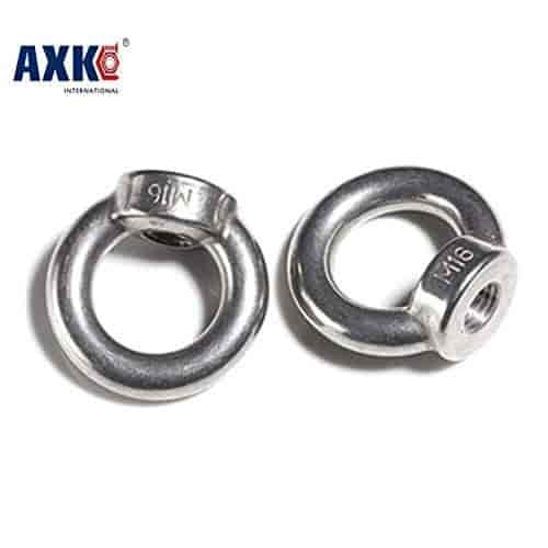 M6 Female Thread Stainless Steel 304 Lifting nut Ring 2pcs