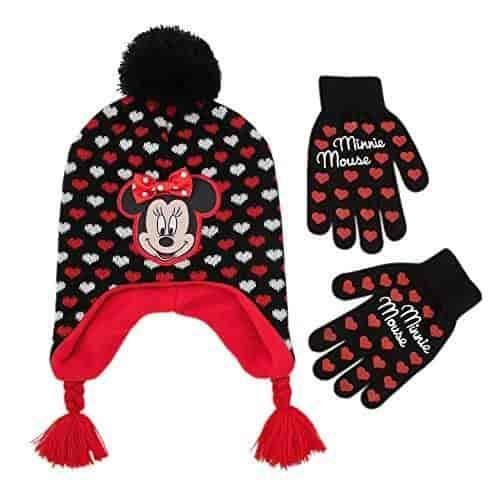 Disney Minnie Mouse Girls Beanie /& Mittens Set