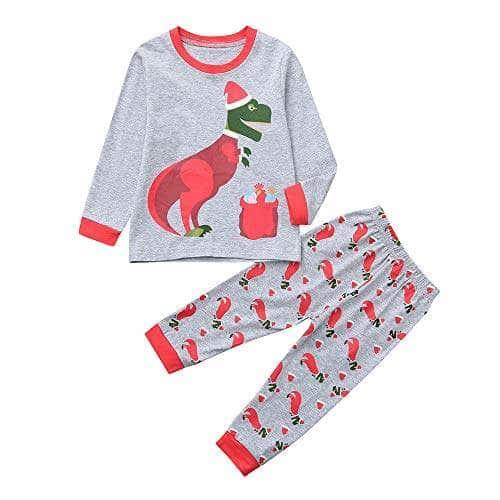 US Baby Girls Kids Christmas Deer Top Leggings PantsOutfit Set Pajama Sleepwear