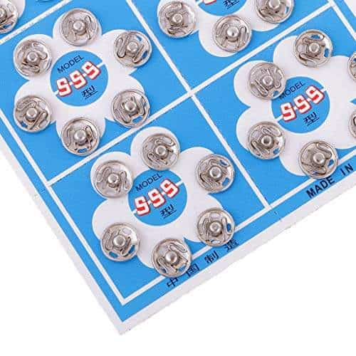 108pcs Sliver Sew on Snap Fastener Press Stud Popper Sewing Button 8//10//12mm