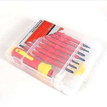 Bahco 1995M//11T Hexagon Offset Screwdriver Set Black//Orange Set of 11 Pieces