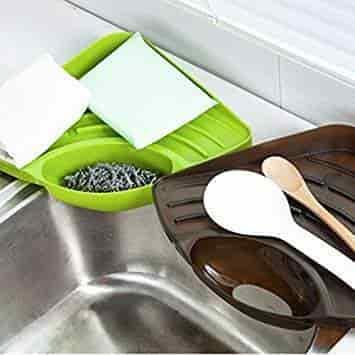 Kitchen Sink Corner Storage Rack Sponge Holder Wall Mounted Dishes Drip Rack New Racks Holders Kitchen Dining Bar