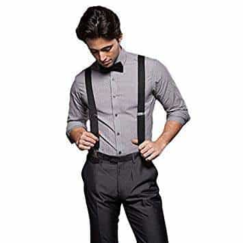 WOMENS SUSPENDER BRACES STRETCHY ELASTIC Y-BACK TROUSER CLIPON MENS UNISEX