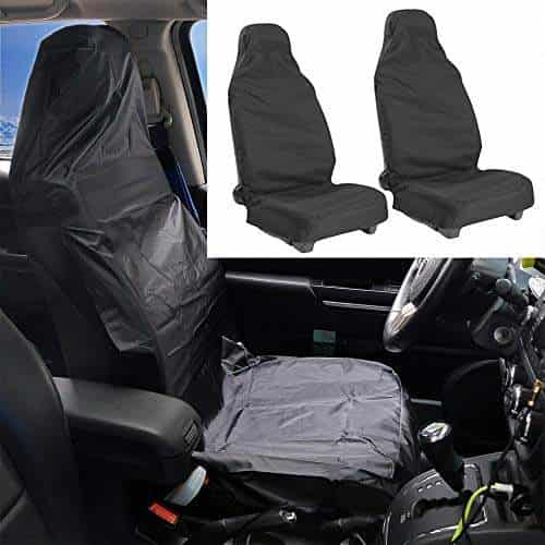 Honda CRV 1+1 Fronts Heavy Duty Black Waterproof Seat Covers//Protectors