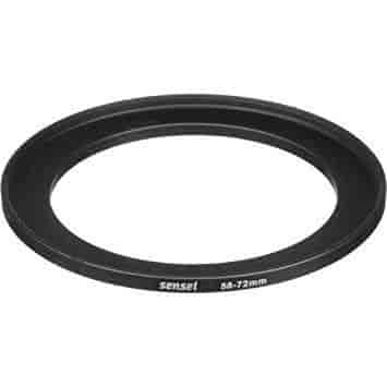 Sensei 58mm Lens to 55mm Filter Step-Down Ring 3 Pack