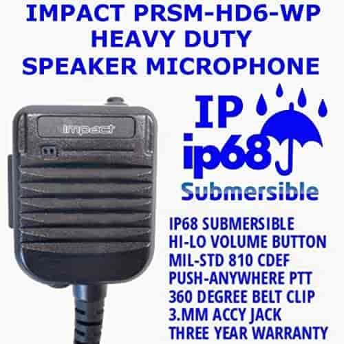 Impact Platinum VY6-PRSM-HD3 Speaker Mic for Vertex Standard EVX-S24 Radios