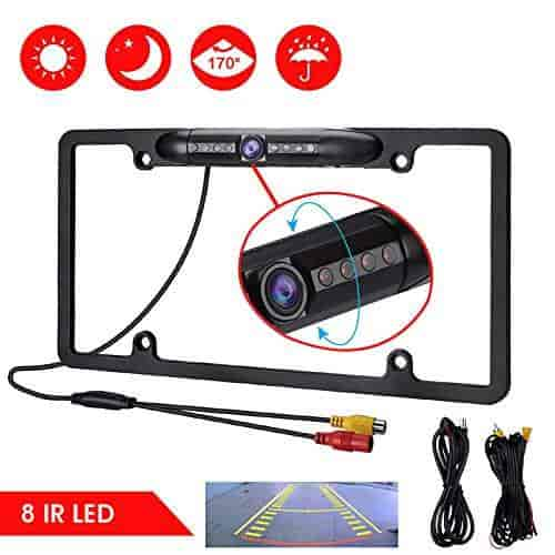 Buy Beesclover 12v Car Rear View Backup Camera 8 Ir Night Vision Us License Plate Frame Cmos Features Price Reviews Online In India Justdial