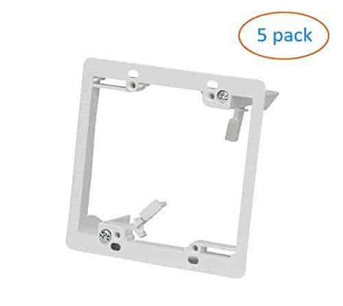 Kenuco White Double Gang Low Voltage Mounting Bracket Pack of 5