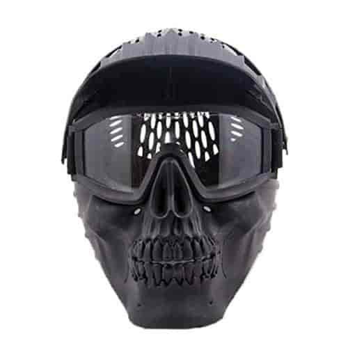 Buy Rishil World Skull Face Mask Halloween W Goggles For Military Cs Airsoft Skull Paintball War Game Single Item Features Price Reviews Online In India Justdial