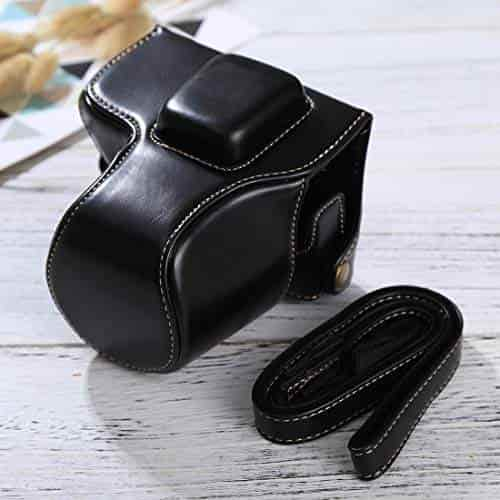 EPL8 Reliable Color : Brown Full Body Camera PU Leather Case Bag with Strap for Olympus EPL7