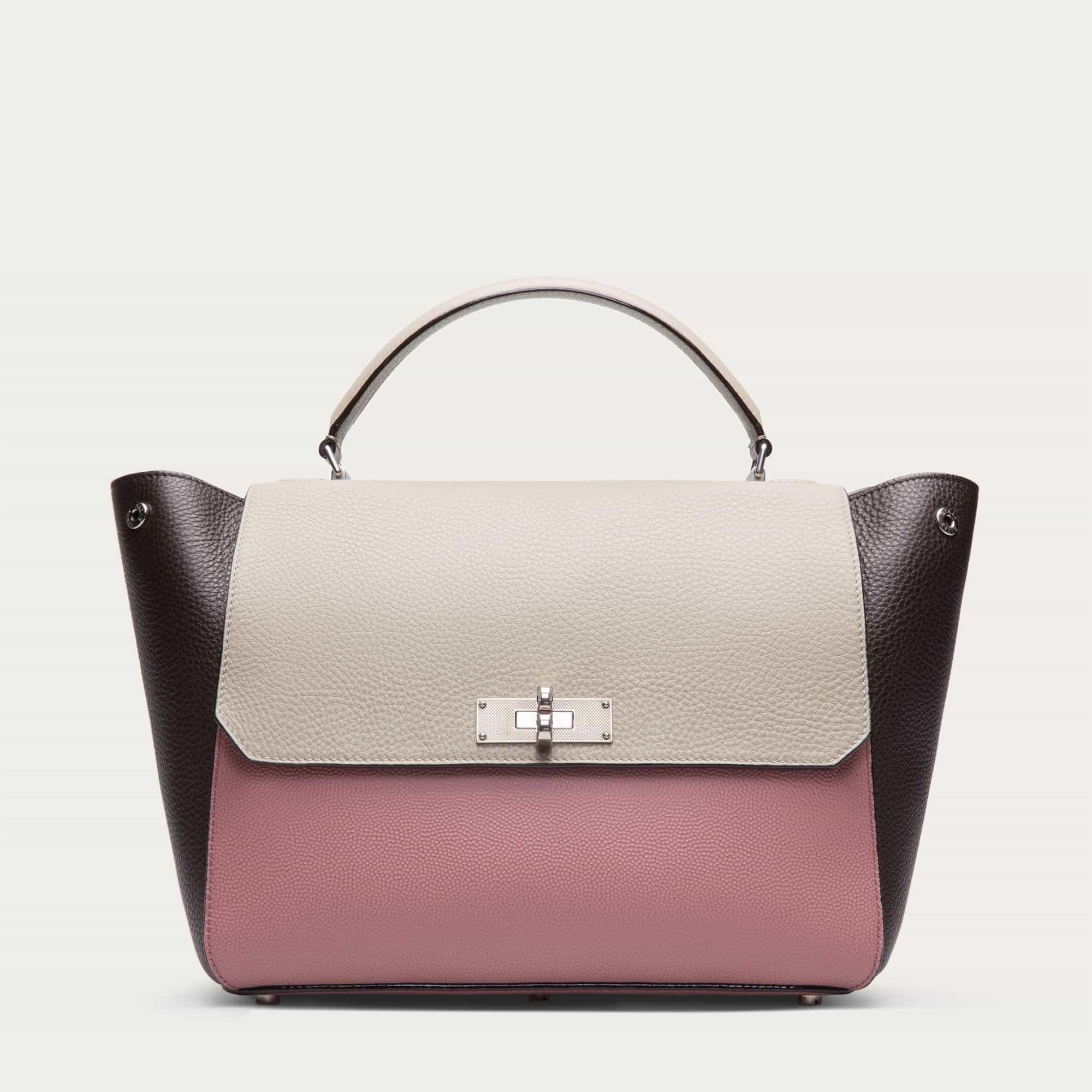 Bally Women B Turn Medium Leather Top Handle Bag Rosehaze   000000006203743001  f7fc77d449