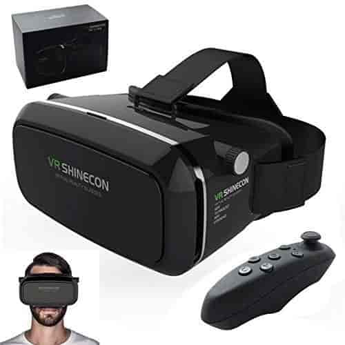 BERRY-Virtual-reality-VR-headset-and-bluetooth-controller-VR-Shinecon-Google-Cardboard-for-IOS-and-Android-phones-adjustable-to-fit-most-sizes-of-phon