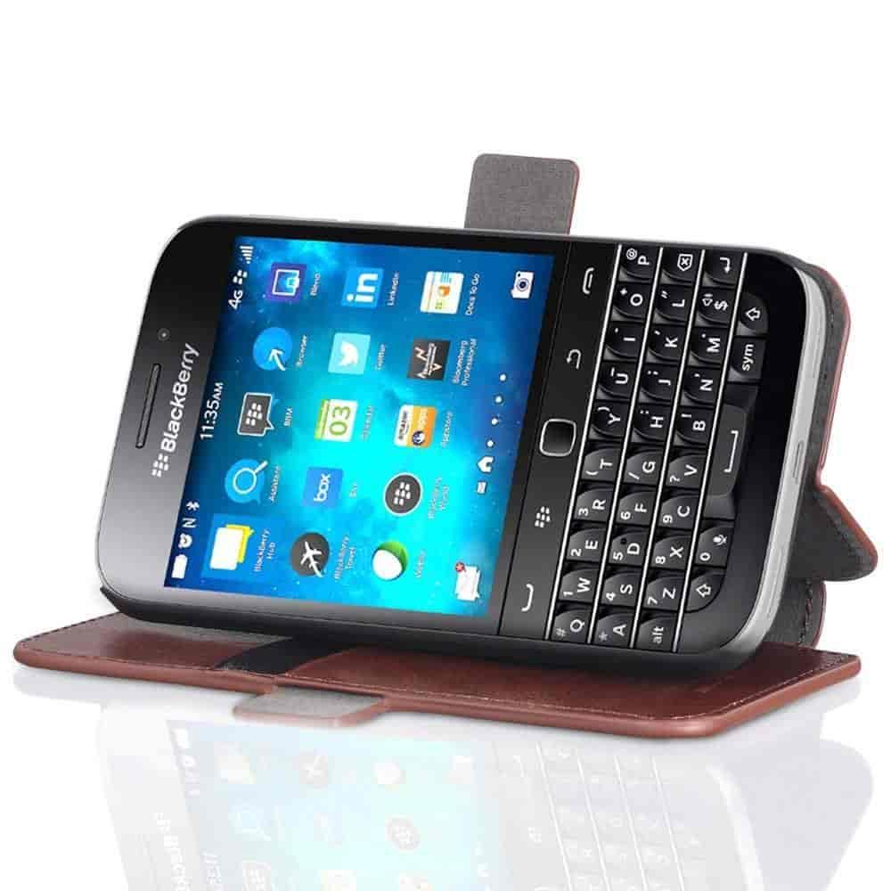 Buy Blackberry Classic Q20 Wallet Case Vena Vfolio Slim Black Vintage Leather Stand