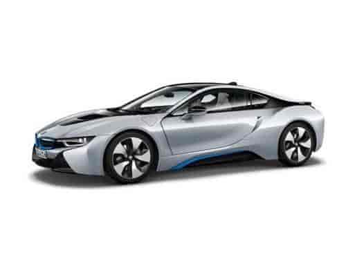 Buy Bmw I8 Ionic Silver Matt Blue 1 18 By Paragon 97081 Features