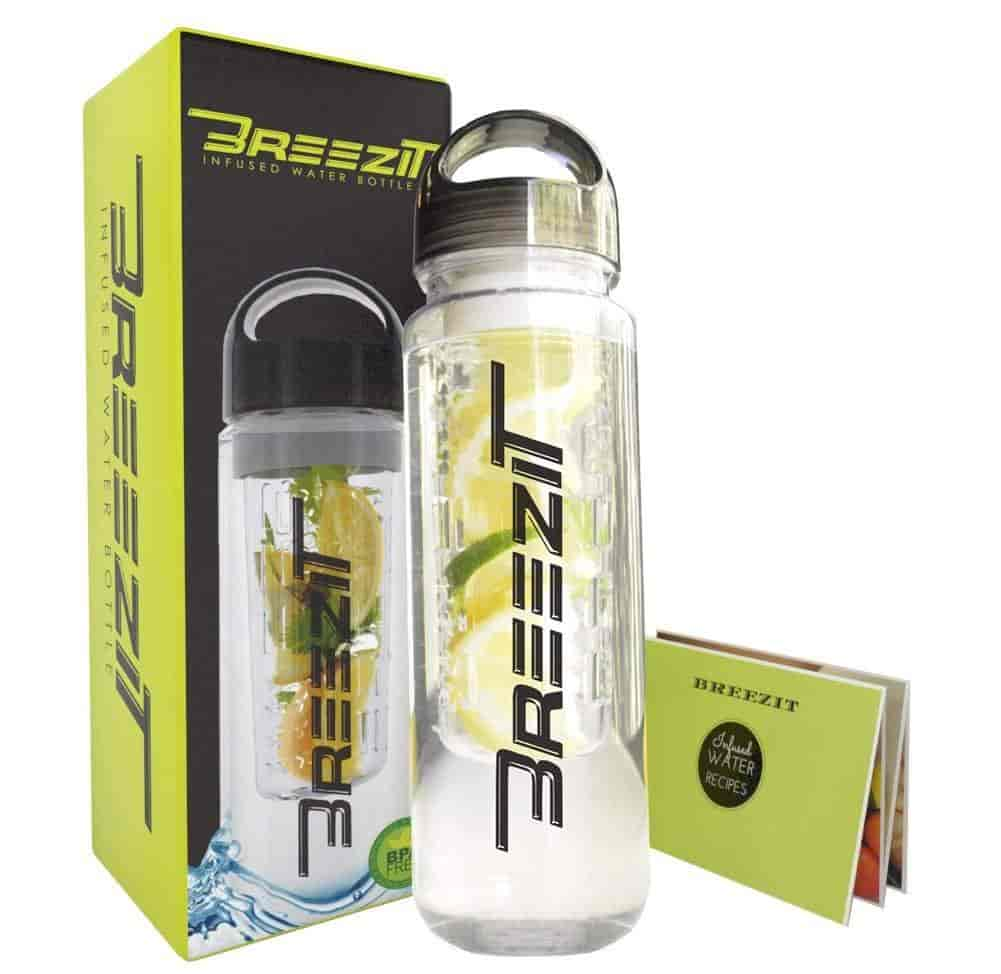 Buy Breezit 24 Oz Sports Water Bottle With Infusers Bpa Free Tritan New Infusd Plastic Dual Purpose Travel