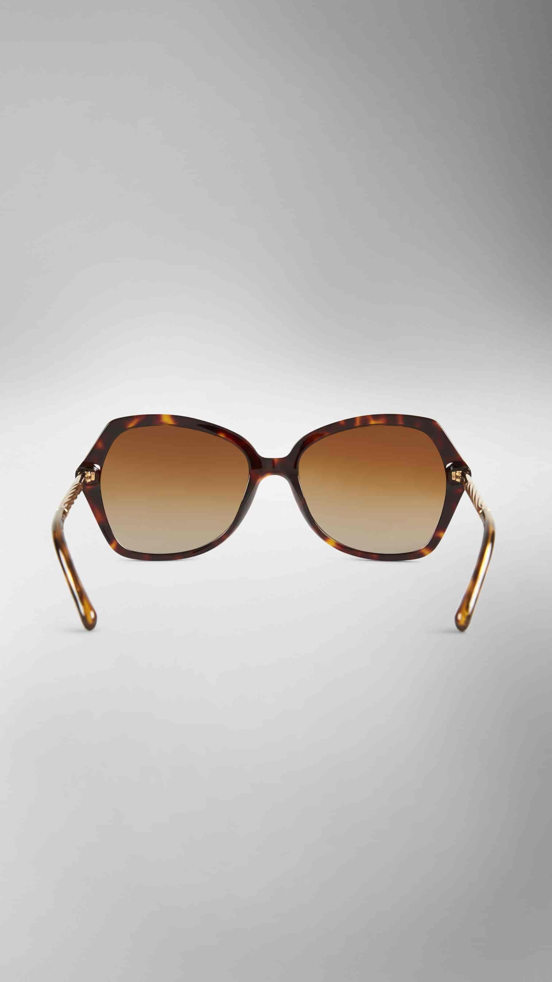 burberry glasses womens plxx  Burberry Gabardine Collection Oversize Square Frame Women Sunglasses  Tortoiseshell [39736561]