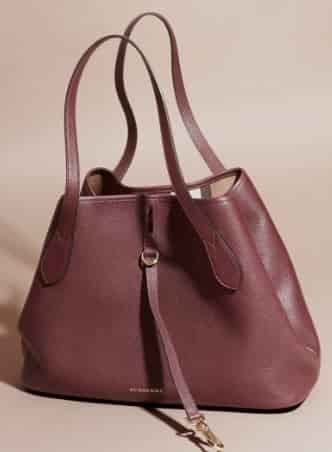 Buy Burberry Medium Grainy Leather Tote Bag Mahogany Red  40204261 ... 69510259e5