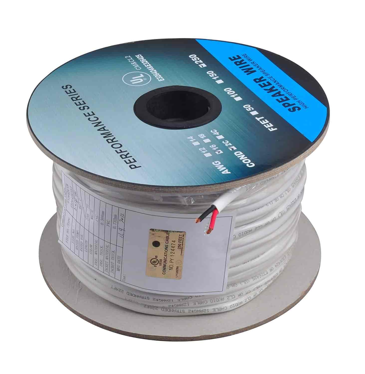 Buy C&E 250 Feet 16AWG CL2 Rated 2-Conductor Loud Speaker Cable (For ...