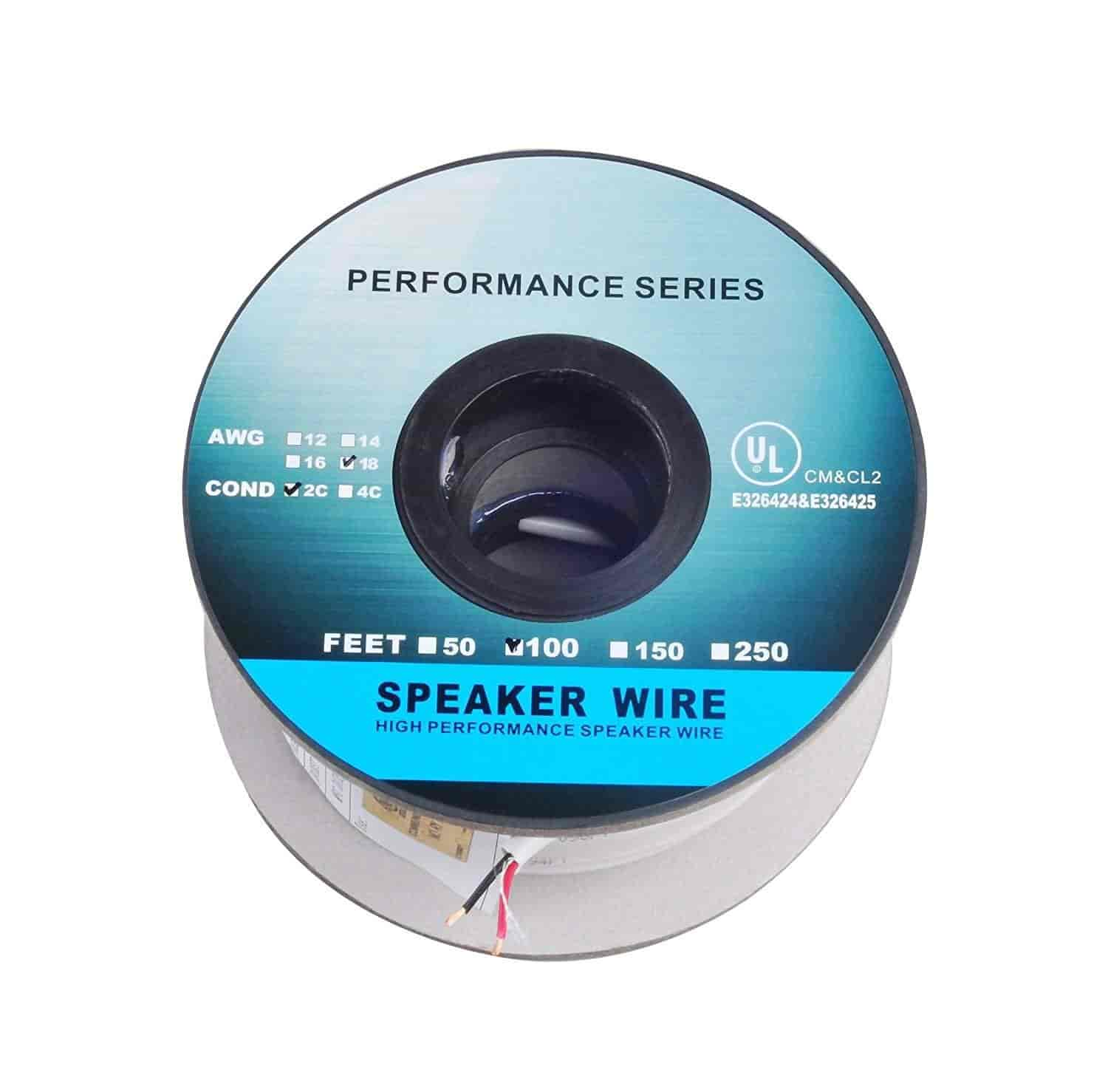 Buy C&E 250 Feet 18AWG CL2 Rated 2-Conductor Loud Speaker Cable (For ...