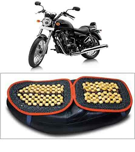 Remarkable Capeshoppers Wooden Bead Seat Cover For Royal Enfield Thunder Bird 350 Evergreenethics Interior Chair Design Evergreenethicsorg