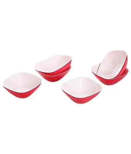 Buy Cello Ceramica Serving Bowl Set 8 Pieces Red Features Price Reviews Online In India Justdial